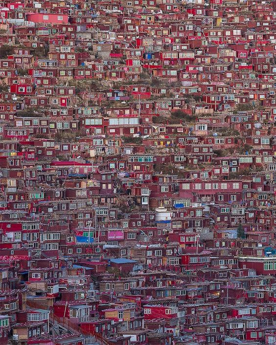 """46k Likes, 300 Comments - EARTH FOCUS (@earthfocus) on Instagram: """"Home to thousand of Buddhist monks & nuns, Larung Gar is supposedly the worlds largest Buddhist…"""""""