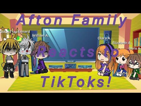 Afton Family React To Tiktoks Glitchtrap And Ennard Michael 2 3 Youtube In 2020 Afton Youtube I Michael