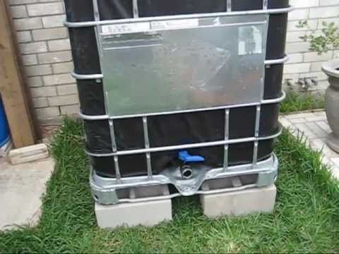 Using 275 totes for rainwater collection and water storage just made sense to me. In this video I show you step-by-step how to cover the totes to block out the sun in order to stop any algae growth. It is very easy and goes quickly. Because the 275 water totes stack so easily I decided not to use 55 gallon barrels. By using these totes I avoided...: