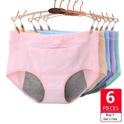 Women Underwear Period health leak proof Plus Size panty leggings briefs knicker