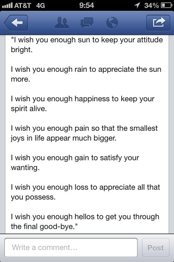 I wish you enough!