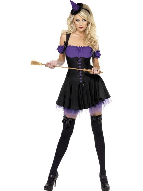 Fever Wicked Witch Costume, Purple at funnfrolic.co.uk - £24.79