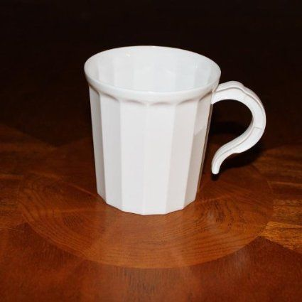 Box of 96 - White Plastic Coffee Mug Disposable / Reuseable Drinking Cup with…