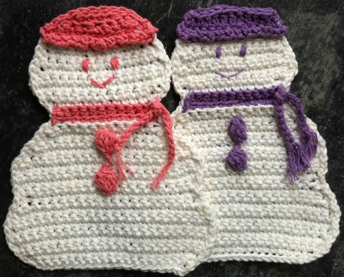 Free pattern, Crochet dishcloths and Snow on Pinterest