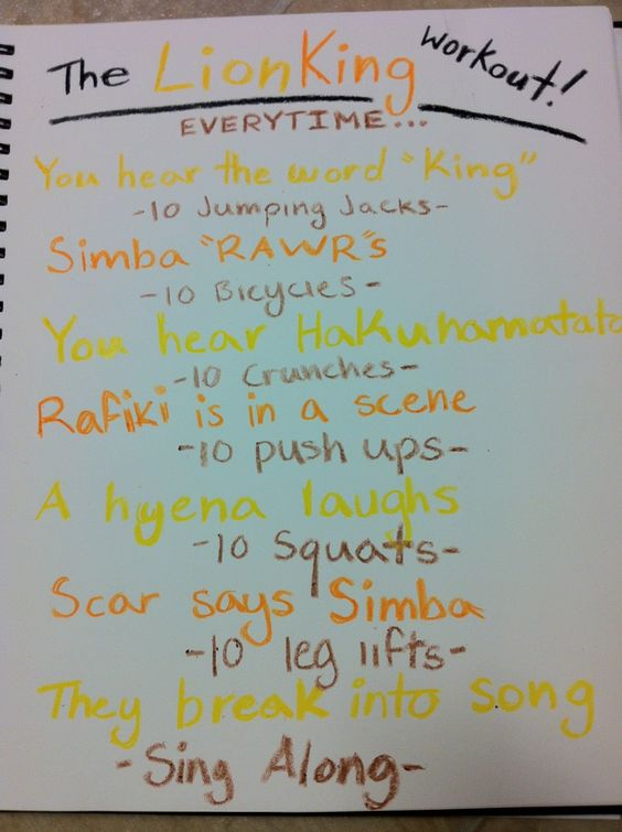 Lion King workout!