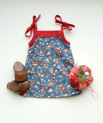 free downloadable dress pattern  has coordinating kids dress pattern too!!