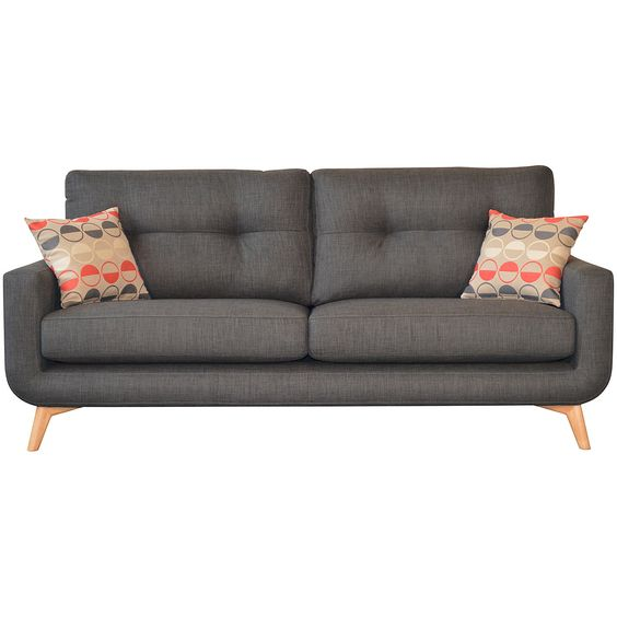 Best Dark G*Y John Lewis Sofa With Bright Cushions You Culd 400 x 300