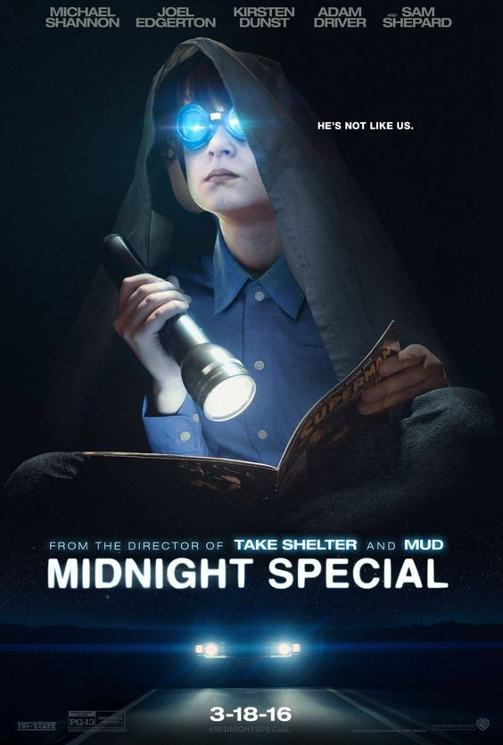 Midnight Special 2015 Movie. A father and son go on the run, pursued by the government and a cult drawn to the child's special powers.