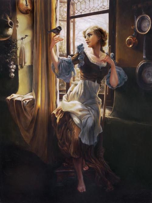 Oil Prints of Disney Princesses by Heather Theurer