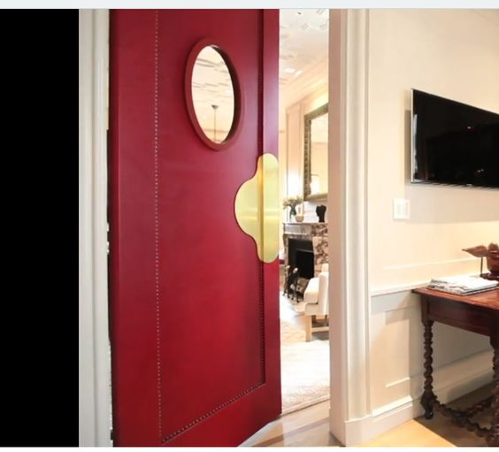 ktichen side of servant's door the astor suite at the plaza by Steven Gambrel