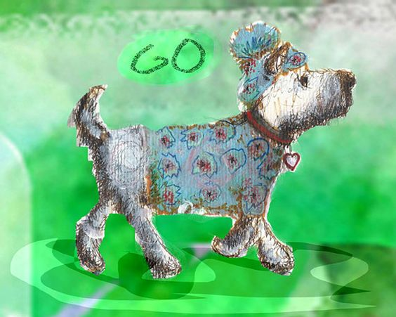 mod dog on the go print free shipping by LollipopLake on Etsy, $15.00