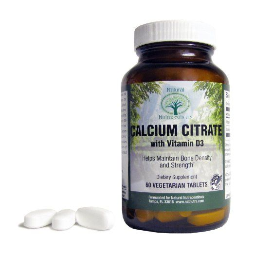 Natural Nutra Calcium Citrate with Vitamin D3, 60 Tablets