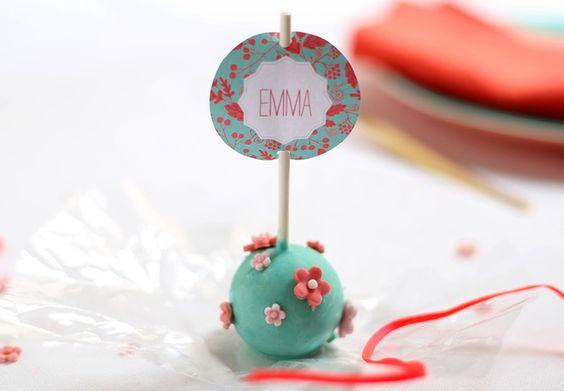 Téléchargez des étiquettes pour faires des marques-places cake pop