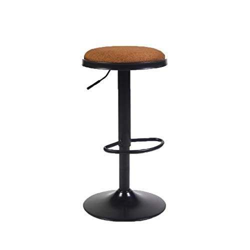 Lgq Jju Height Adjustable Round Bar Stool Wrought Iron European