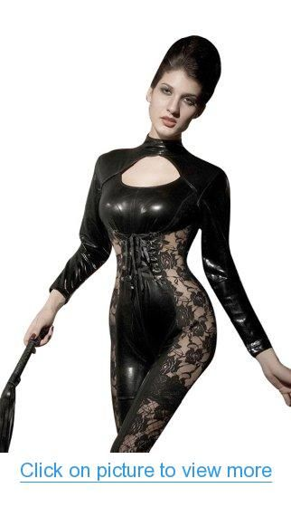 Dreamy house Sexy Catwoman Lace Cosplay Jumpsuits Halloween Costume NA9071