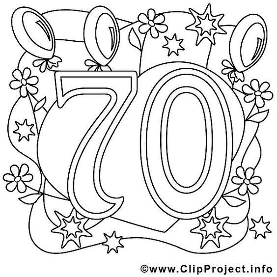 Ausmalbild Zum 70 Geburtstag Geburtstag Malvorlagen 70 Geburtstag 70 Geburtstag Geschenk