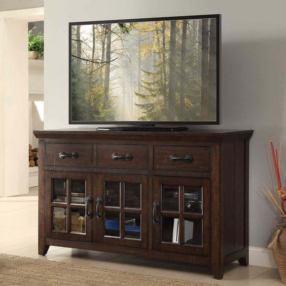 Fall Entertainment center and Consoles on Pinterest