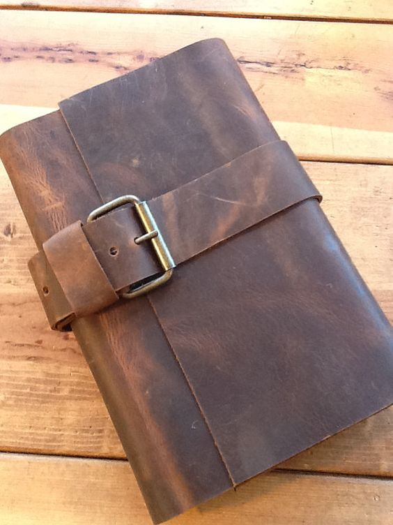 New Yorker journal - large refillable leather buckle journal -hand stitched