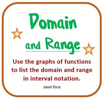 Domain and range examples and answers features bold notes and large