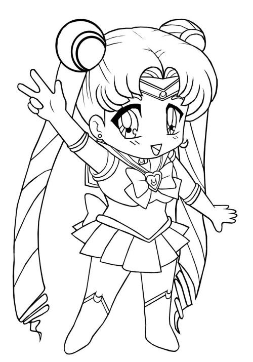 chibi moon coloring pages - photo#15