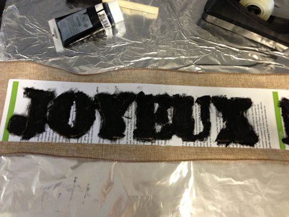 How to add print to burlap ribbon