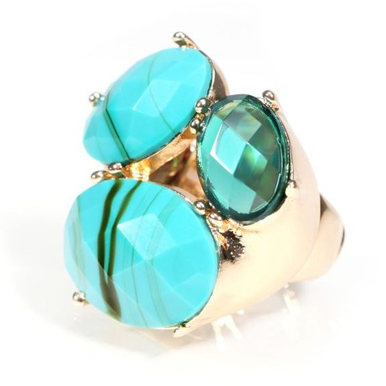 Turquoise Multi stone Cocktail Ring