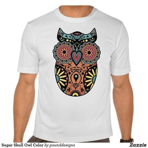 Sugar Skull Owl Color