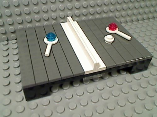 Lego Grey Ping Pong Table Tennis Sport Ball Paddle City Olympics Tournament Net | eBay