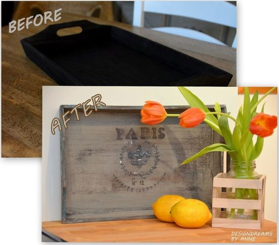 DesignDreams by Anne: Vintage Look for a New Tray