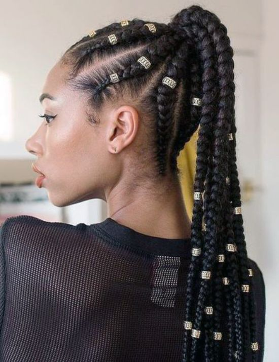 39 Crazy Braided Ponytail Hairstyles Curly Craze Braided Ponytail Hairstyles Cool Braid Hairstyles Hair Styles
