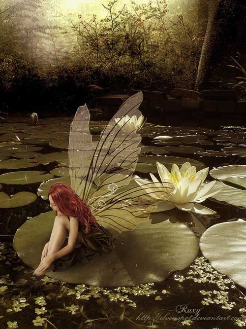 Fairy Among The Lilies: