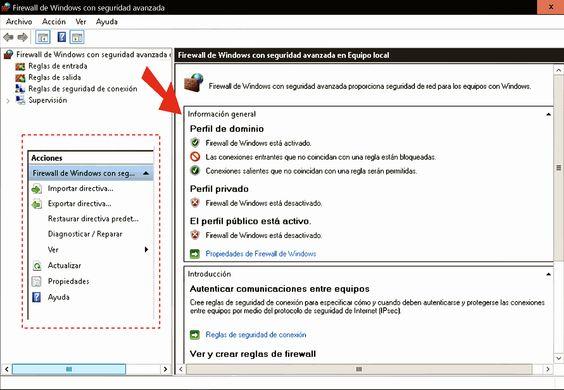 Firewall de Windows 10