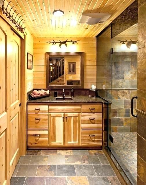 Cabin Bathroom Vanity Astounding Lodge
