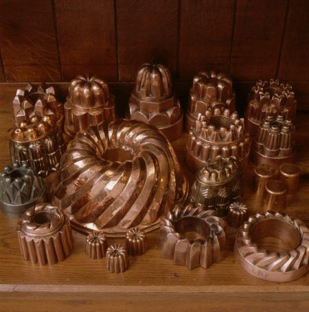 Copper jelly moulds y'all