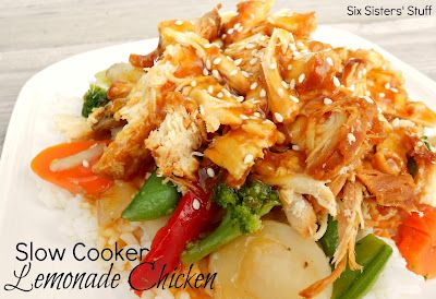 Six Sisters' Stuff: Slow Cooker Sweet and Sour Lemonade Chicken