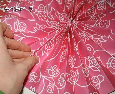 scrapbook paper pinwheels -- made it!