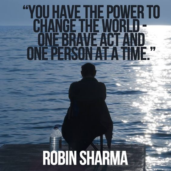 One brave act, changes the world.