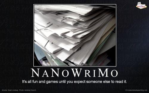 HA! Ha ha! NaNoWriMo.