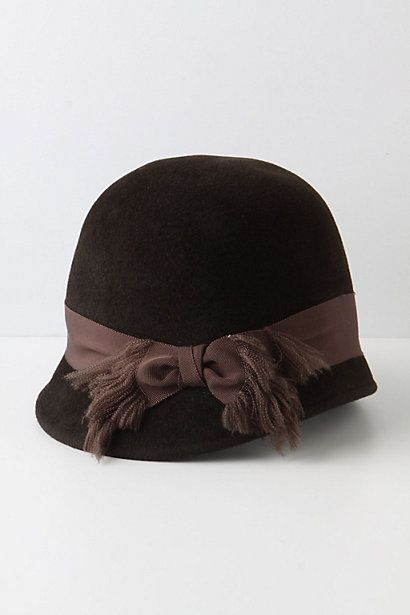 nice lines to this cloche for anthropologie #millinery #judithm #hats