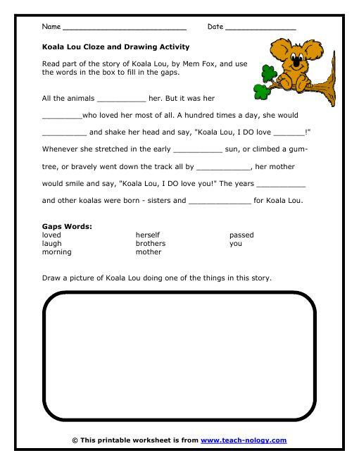 Cloze worksheets 11