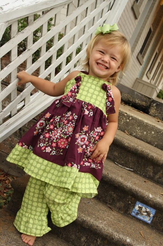 Plums and Polkadots knot dress size 6mos.5T von dayspringdresses