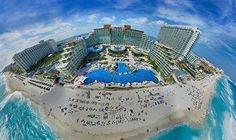 Aerial View of HARD ROCK HOTEL CANCUN ALL INCLUSIVE, Mexico. #Mexico Do you want cheap hotels? Search 100s of booking sites to find the best deals on over 430,000 hotels.Best Price Guaranteed!