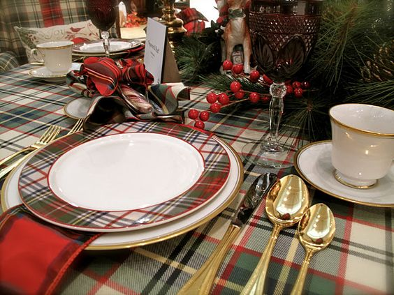 Plaid Tablescape