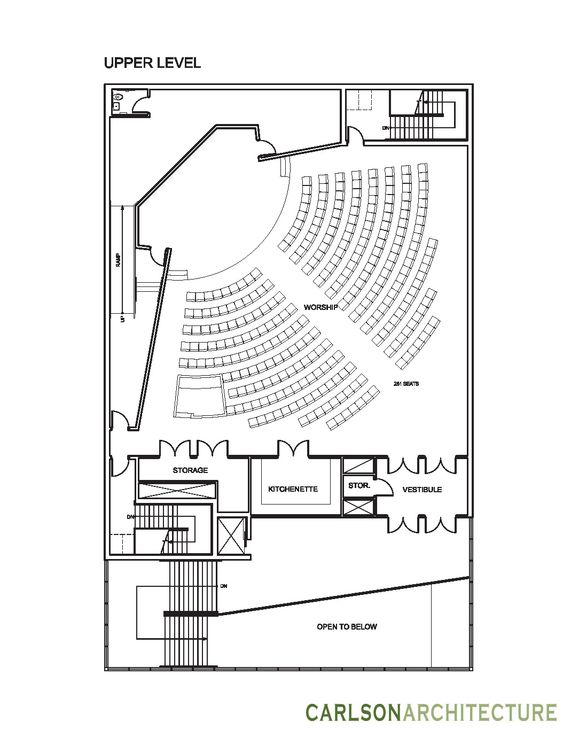Small church floor plan church building plan church for Small church blueprints