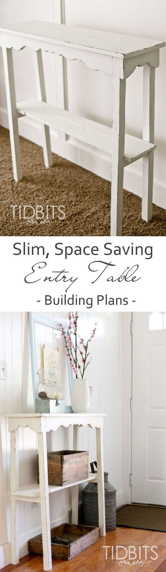 Entry Tables For Small Spaces slim entry table building plans | entry ways, entryway and entry