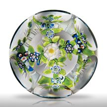 Rare magnum antique Baccarat faceted cruciform bouquet paperweight.  Sold at auction for $7500.