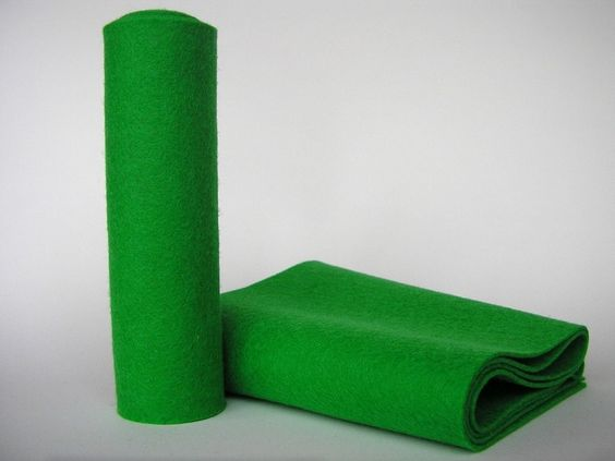 Rollo Fieltro Lana 100% - 13x80cm - VERDE de CREA - Material creativo por DaWanda.com