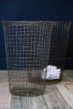 Set of 2 Wire Waste Paper Bins