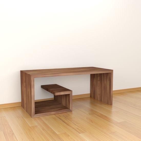 Mesa de centro modelo bukev acabada en ngulo recto y con - Mesas de centro minimalistas ...