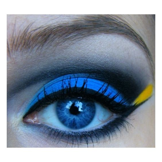 Finding Nemo: Dory Inspired | Idea Gallery | Makeup Geek found on Polyvore